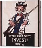 World War I, Poster Showing Uncle Sam Canvas Print