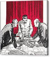 World War II: Cartoon Canvas Print