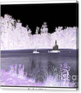 Worlds Smallest Chapel Church Negative Inverted Image Canvas Print