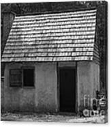 Wormsloe Cottage In Black And White Canvas Print