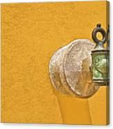 Worn Brass Spigot  Of Medieval Europe Canvas Print