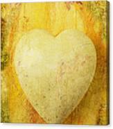 Worn Heart Canvas Print