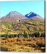 Wrangell Mountains Colors Canvas Print