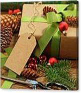 Wrapping Gifts For The Holidays Canvas Print