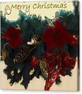 Wreath Garland Greeting Canvas Print