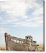 Wrecked Boat Canvas Print