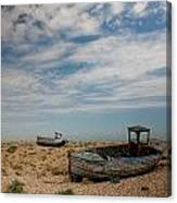 Wrecked Boats Dungeness Canvas Print