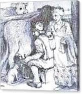 Ww1doughboy Milker Canvas Print
