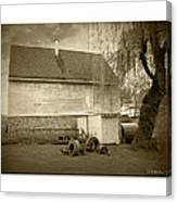 Wye Mill - Sepia Canvas Print