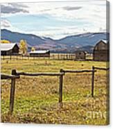 Wyoing Barns Canvas Print