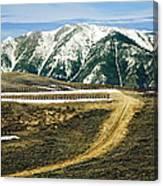 Wyoming Road Canvas Print