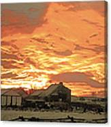 Wyoming Sunrise 1 Canvas Print