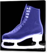 X-ray Of An Ice Skate Canvas Print