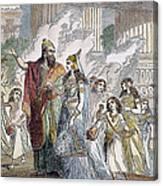 Xerxes I & Esther Canvas Print