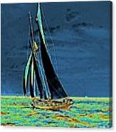 Yacht Idler Races For America's Cup 1901 Canvas Print