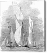 Yacht Race, 1855 Canvas Print