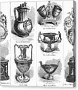 Yachting Trophies, 1871 Canvas Print