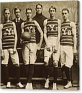 Yale Basketball Team, 1901 Canvas Print