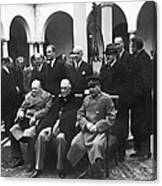 Yalta Conference, 1945 Canvas Print