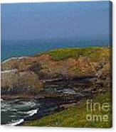 Yaquina Head Lighthouse And Bay - Posterized Canvas Print