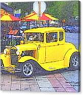 Yellow 1930's Ford Roadster Canvas Print