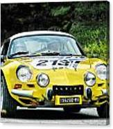 Yellow Alpine Renault Canvas Print