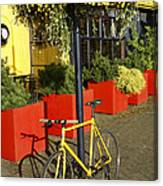 Yellow Bicycle Vancouver Canada Canvas Print