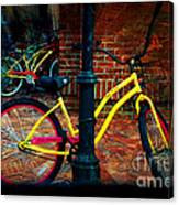 Yellow Bike Canvas Print