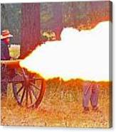Yellow Cannon Flames  Canvas Print