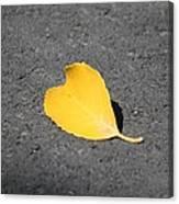 Yellow Heart Canvas Print