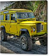 Yellow Jeep Canvas Print