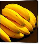 Yellow Ripe Bananas Canvas Print