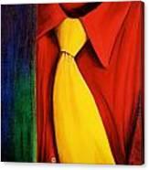 Yellow Silk Tie Canvas Print