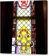 Yellow Stained Glass Window Canvas Print