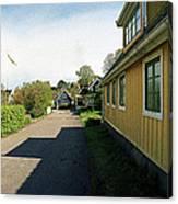 Yellow Summer House Canvas Print