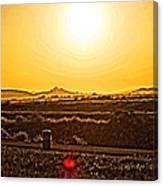 Yellow Sun Canvas Print