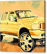 Yellow Suv Canvas Print