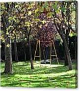 Yellow Swingset Canvas Print