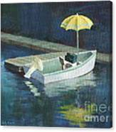 Yellow Umbrella Canvas Print