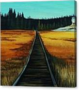 Yellowstone Boardwalk Canvas Print