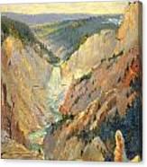Yellowstone Falls And Hoodoos Canvas Print