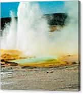 Yellowstone Geysers Canvas Print