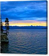 Yellowstone Lake Sunrise Canvas Print