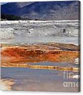 Yellowstone National Park Geothermal Reflections Canvas Print