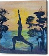 Yoga High Lunge Pose  Canvas Print