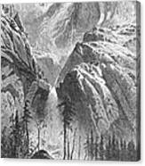 Yosemite Falls, 1874 Canvas Print