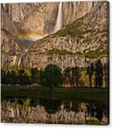 Yosemite Falls Moonbow Reflection Canvas Print