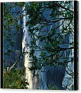 Yosemite Falls Through Trees Canvas Print