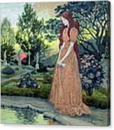 Young Girl In A Garden  Canvas Print