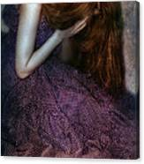 Young Lady Crying Canvas Print